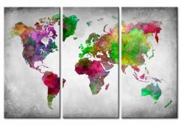 Murando DeLuxe Mapa na korkové tabuli - rozmanitost svìta