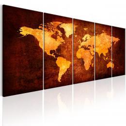 Murando DeLuxe Vícedílný obraz - oranžová mapa