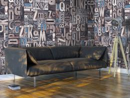Murando DeLuxe Scrabble Klasické tapety  49x1000 cm - samolepicí