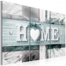Murando DeLuxe Vícedílný obraz - srdcový domov