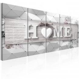 Murando DeLuxe Vícedílný obraz - trojrozmìrný domov III Velikost  150x60 cm