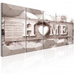 Murando DeLuxe Vícedílný obraz - trojrozmìrný domov II Velikost  200x80 cm