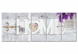 Murando DeLuxe Vícedílný obraz - domov III. Velikost  200x80 cm