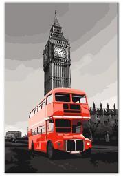 Murando DeLuxe Obraz jako omalovánka - Londýn 60x90