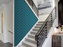 Murando DeLuxe Mozaiková modrá Klasické tapety  49x1000 cm - samolepicí
