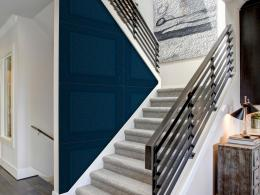 Murando DeLuxe Modré kachle Klasické tapety  49x1000 cm - samolepicí