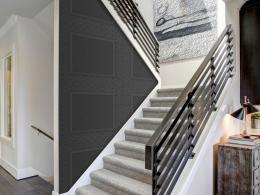 Murando DeLuxe Tmavì šedé kachle Klasické tapety  49x1000 cm - samolepicí