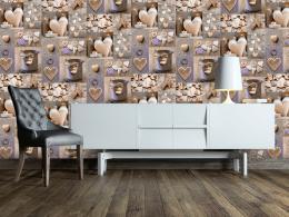 Murando DeLuxe Vintage srdce Klasické tapety  49x1000 cm - samolepicí