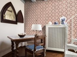 Murando DeLuxe Rùžová mozaika Klasické tapety  49x1000 cm - samolepicí