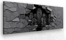 InSmile ® Obraz na zeï šedé mìsto  - zvìtšit obrázek