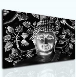 Malvis Obraz Buddha šedý