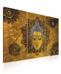 InSmile ® Obraz mandala Buddha žlutý
