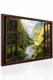 InSmile ® Obraz fascinující kaòon za oknem hnìdé  - zvìtšit obrázek