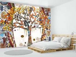 Murando DeLuxe Tapeta zlatý strom života