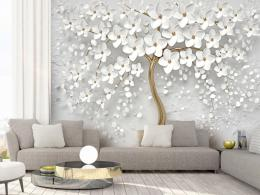 Murando DeLuxe 3D tapeta bílý strom s kvìty  - zvìtšit obrázek
