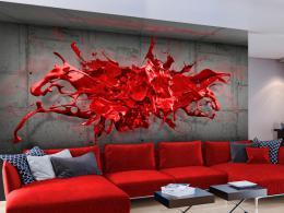 Murando DeLuxe 3D èervená tapeta  - zvìtšit obrázek
