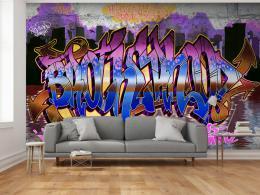 Murando DeLuxe Tapeta Graffiti barevné