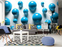 Murando DeLuxe 3D tapeta modré koule