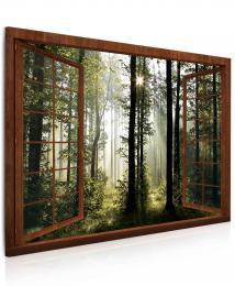 InSmile ® Obraz - Okno v ranním lese