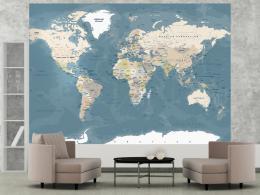 Murando DeLuxe Mapa svìta vintage