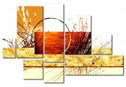 Murando DeLuxe Vícedílný obraz - bøeh jezera  - zvìtšit obrázek
