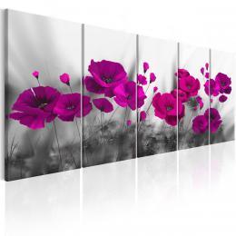 Murando DeLuxe Vícedílný obraz - fialové vlèí máky fialové  - zvìtšit obrázek