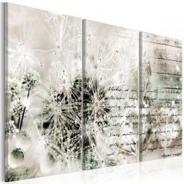Murando DeLuxe Tøídílný obraz - pampelišky a dopis Vel. (šíøka x výška)  135x90 cm