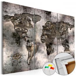 Murando DeLuxe Mapa na korkové tabuli - úchvatná mapa svìta