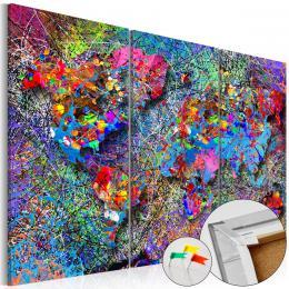 Murando DeLuxe Mapa - barevný vír na korku