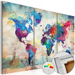 Murando DeLuxe Mapa na korkové tabuli - pokrèené šílenství II