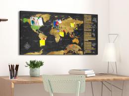 Murando DeLuxe Stírací zlatá mapa na korkové nástìnce