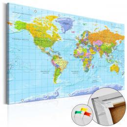 Murando DeLuxe Mapa na korkové nástìnce - pohled na svìt