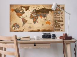 Murando DeLuxe Stírací mapa svìta Vintage francouzská
