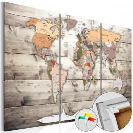 Murando DeLuxe Mapa na korkové tabuli - historická mapa svìta II  - zvìtšit obrázek
