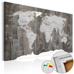 Murando DeLuxe Mapa na korkové tabuli - døevo