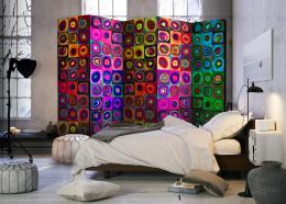 Murando DeLuxe Paraván barevná abstrakce fialová
