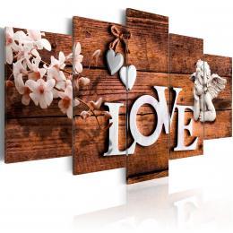 Murando DeLuxe Pìtidílné obrazy - láska, srdce, andìl