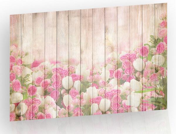 Malvis Obraz Rùže a tulipány na døevì  - zvìtšit obrázek