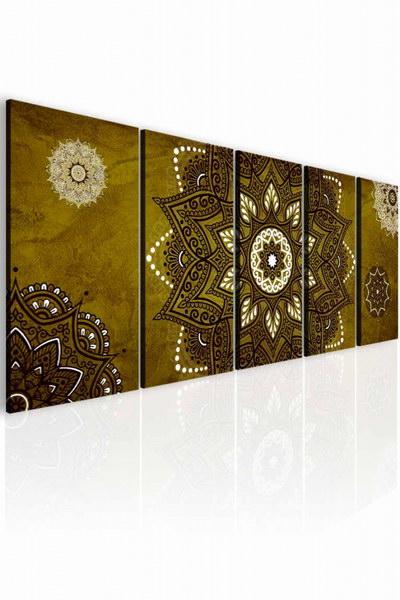 Malvis Obraz kouzelná mandala zlato hnìdá  - zvìtšit obrázek