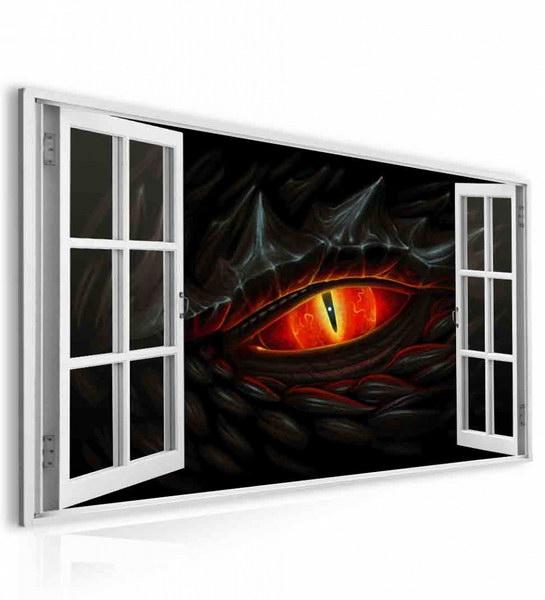 Malvis Obraz okno draèí oko  - zvìtšit obrázek