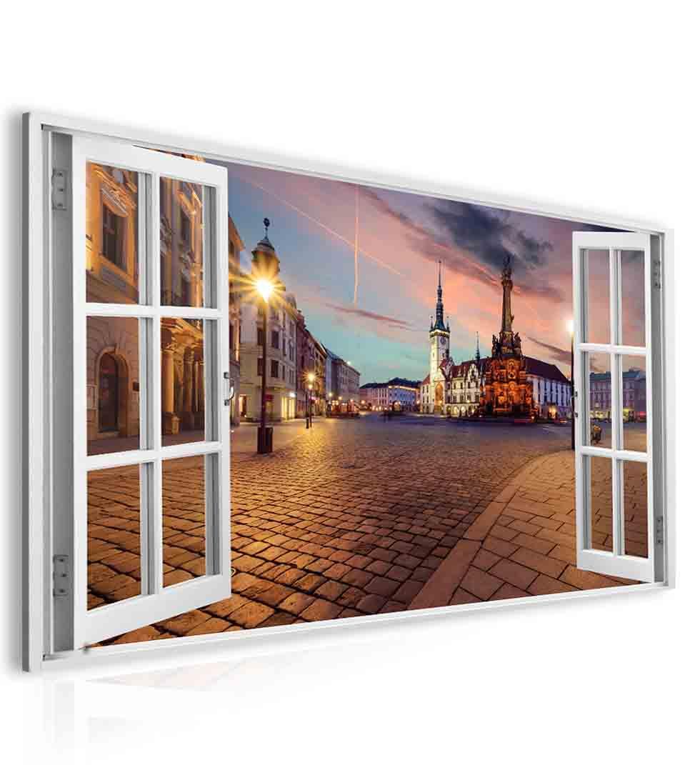 Malvis Obraz okno olomoucké námìstí  - zvìtšit obrázek
