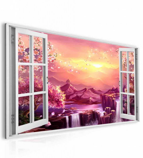 Malvis Obraz okno sakury  - zvìtšit obrázek