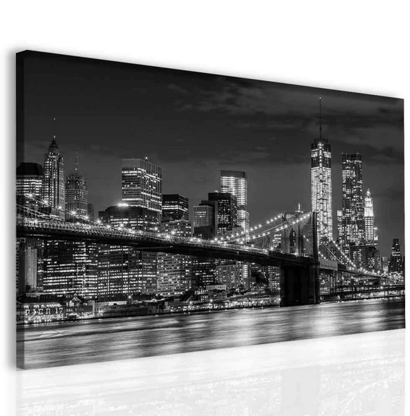 Malvis Brooklyn bridge Manhattan  - zvìtšit obrázek