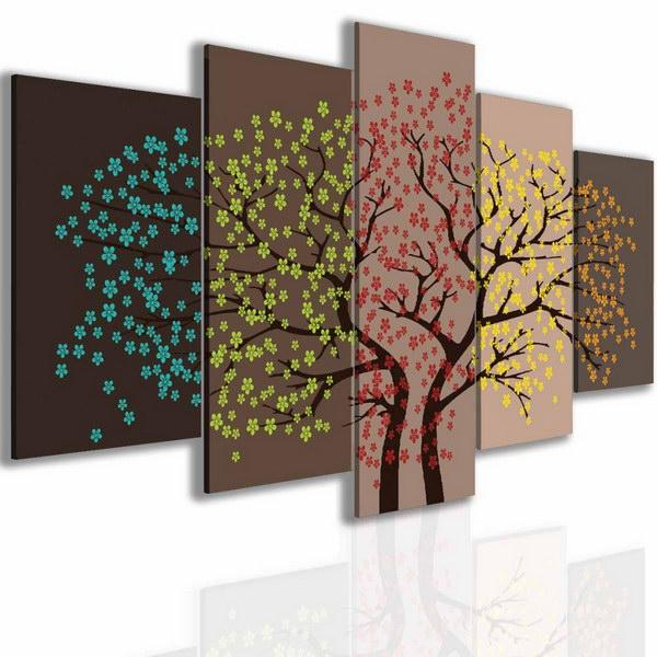 Malvis Pìtidílný obraz strom roèních období  - zvìtšit obrázek