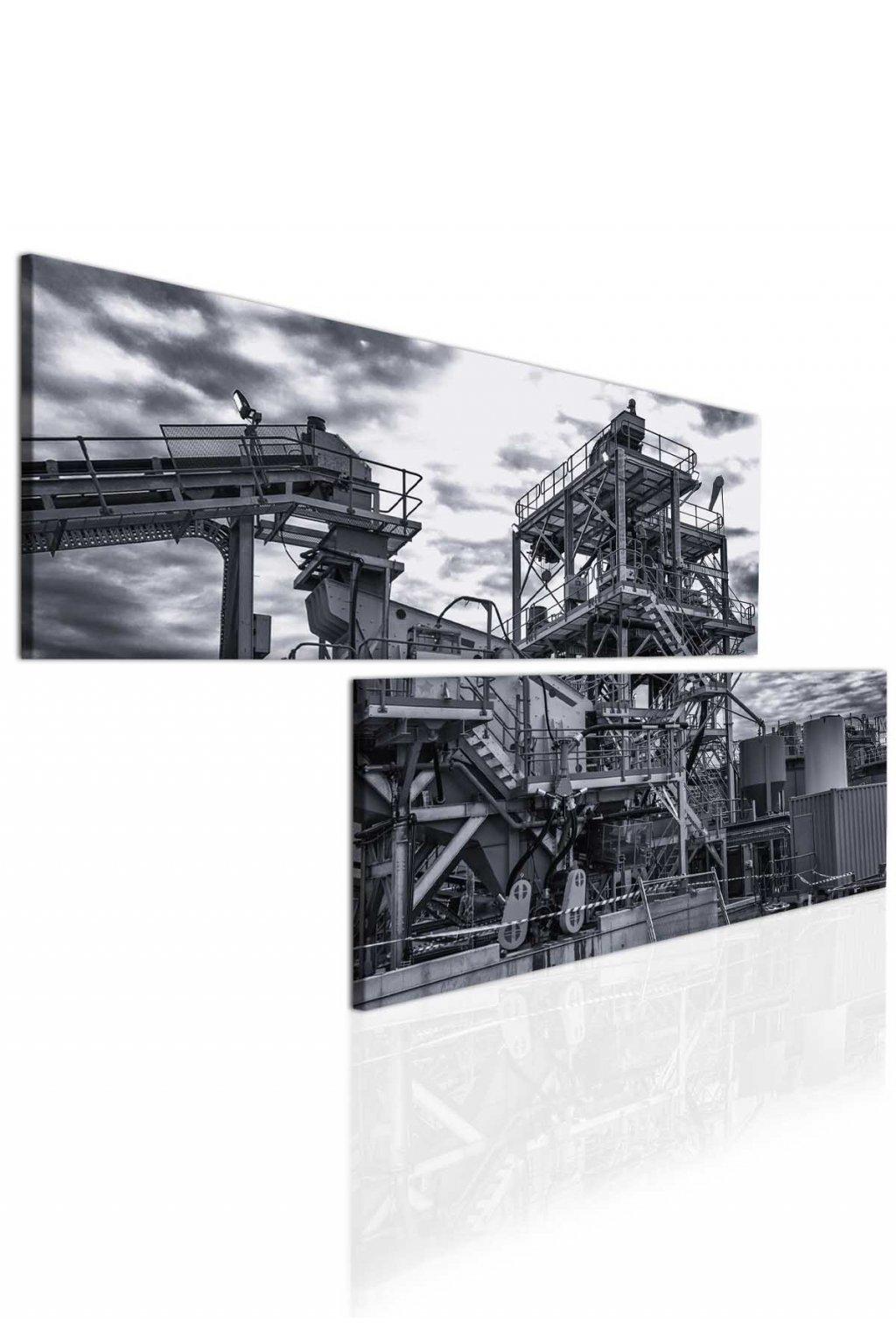 Malvis Atypický obraz - industriální motiv  - zvìtšit obrázek
