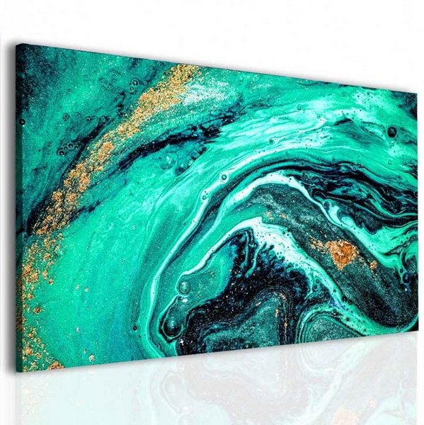 Malvis Obraz zeleno zlatá abstrakce  - zvìtšit obrázek