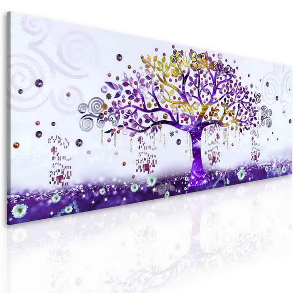 Malvis Obrazy malovaný abstraktní strom fialový  - zvìtšit obrázek