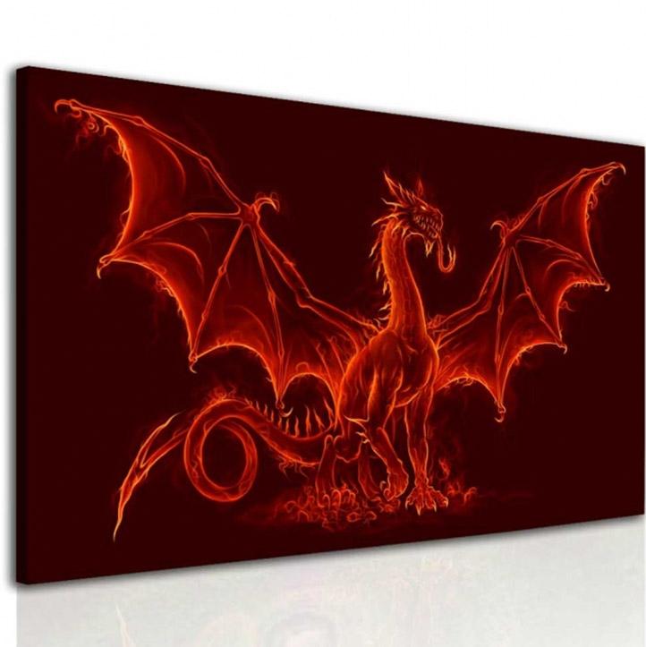 Malvis Obraz ohnivý drak  - zvìtšit obrázek