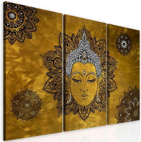 Malvis Obraz mandala žlutý Buddha  - zvìtšit obrázek