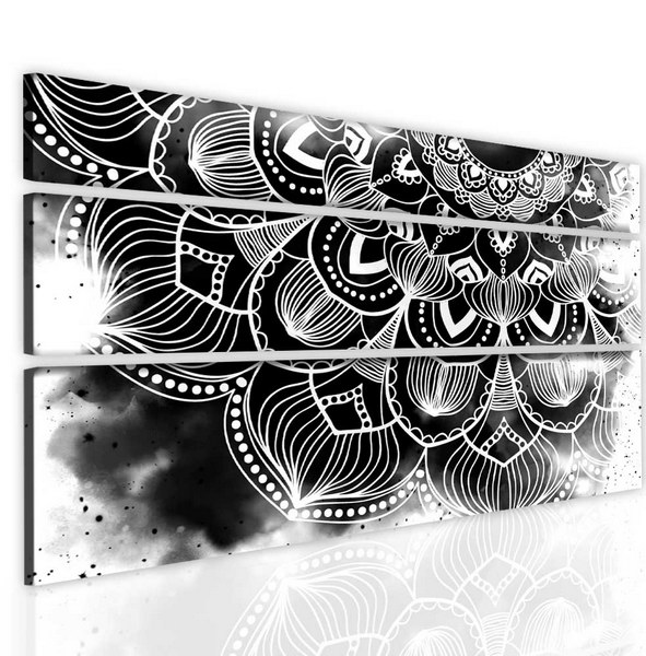 Malvis Obraz atypická èernobílá mandala  - zvìtšit obrázek